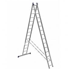 Лестница алюминиевая Алюмет 2*15 HS2 6215 усиленная