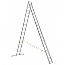 Лестница алюминиевая Алюмет 2*20 P2 9220 профессиональная