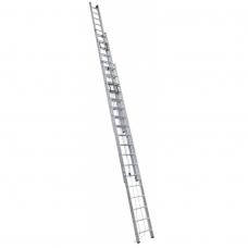 Выдвижная трехсекционная лестница с тросом Алюмет 3*12 SR3 3312