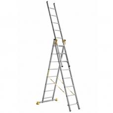 Лестница алюминиевая Алюмет 3*8 P3 9308 профессиональная