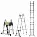Двухсторонняя телескопическая лестница с шарниром Алюмет 2.2+2.2 м DTLH 2.2