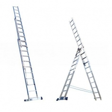 Лестница Алюмет 3*14 алюминиевая (6314) усиленная